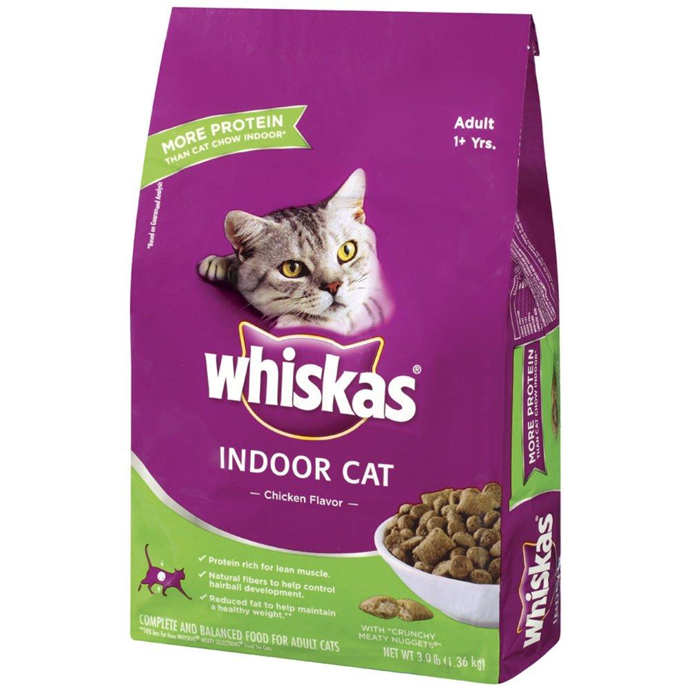 Amazon WHISKAS Indoor Cat Chicken Flavor Dry Cat Food 3
