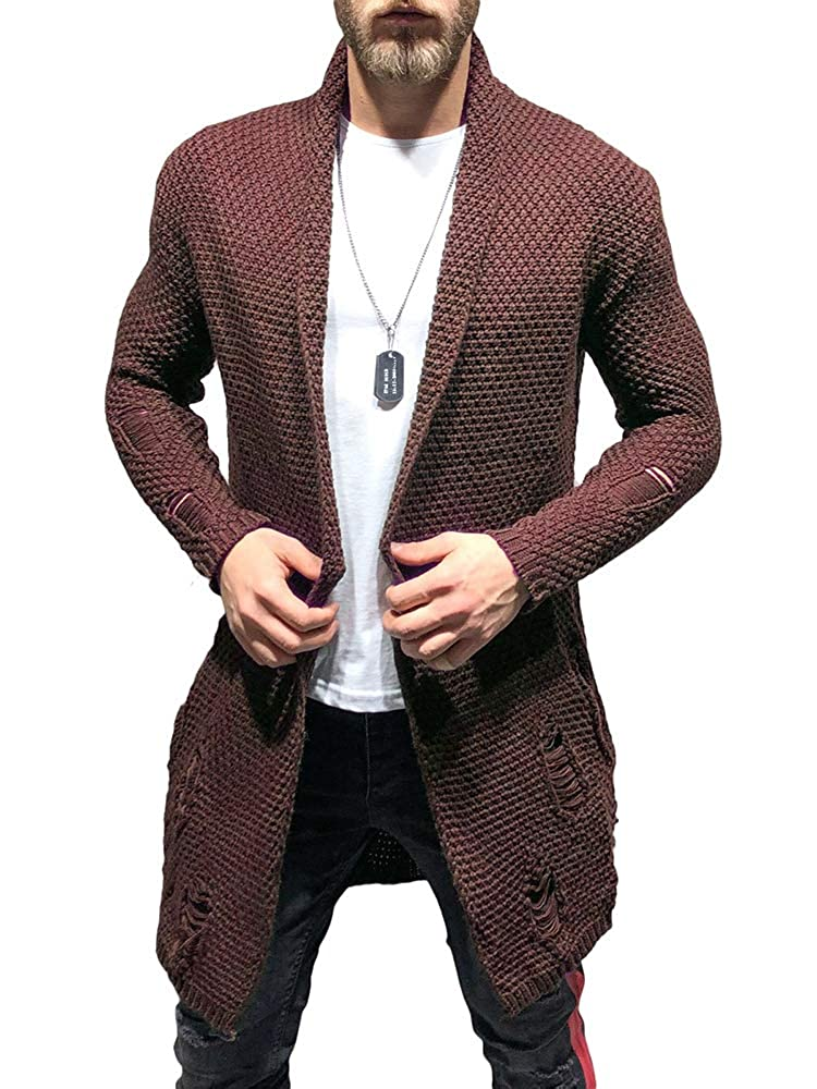 Clothing, Shoes & Jewelry VICALLED Mens Long Cardigan