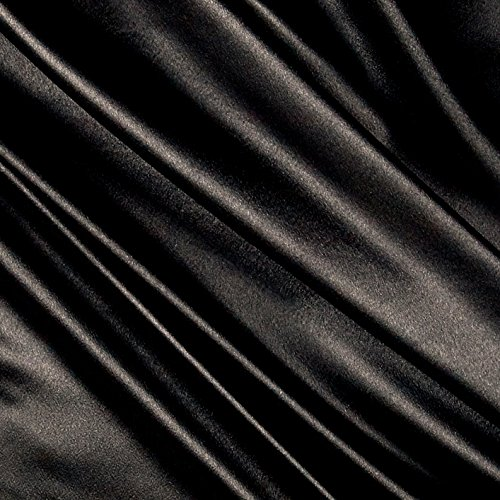 - Ben Textiles Heavy Crepe Back Satin Black Fabric by The Yard