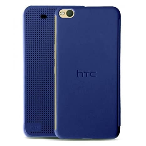 new arrivals 3e3c7 0ff6d NETBOON HTC One X9 Dot View Sensor Screen Dual Protection Flip Case Cover  Perfect Size - Blue