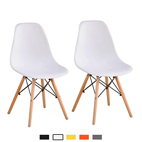 Terrific Yeefy Modern Style Dining Chairs Mid Century Dining Room Chairs With Natural Wood Set Of 2 White Ibusinesslaw Wood Chair Design Ideas Ibusinesslaworg