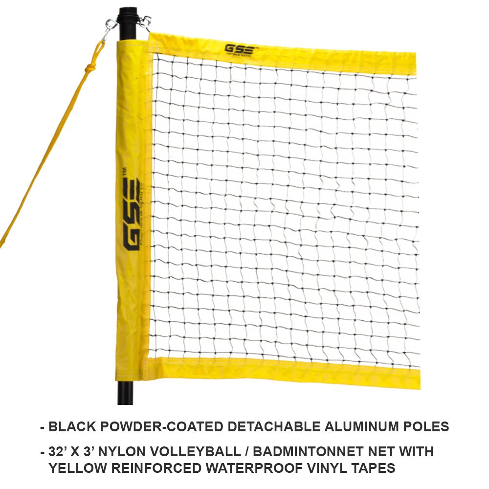 GSE Games & Sports Expert Professional Portable Badminton Volleyball Combo Set. Including Volleyball/Badminton Net System and Accessories by GSE Games & Sports Expert (Image #2)