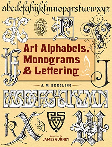 Art Alphabets, Monograms, and Lettering (Dover Art Instruction)