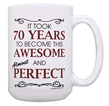 70th Birthday Gifts For All 70 Years Awesome Mug Gift 15 Oz Coffee
