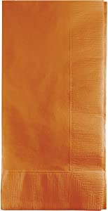Creative Converting 323401 2PLY 1/8FLD Touch of Color 50-Count Dinner Napkins, 1/8 Fold, Pumpkin Spice, 6.5