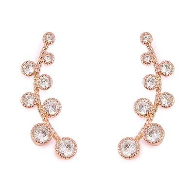 Jewelry & Accessories New Full Rhinestones Earrings Gold Color Half Moon Ear Cuff Earrings For Women Crystal Ear Earloop Exquisite Earrings Jewelry