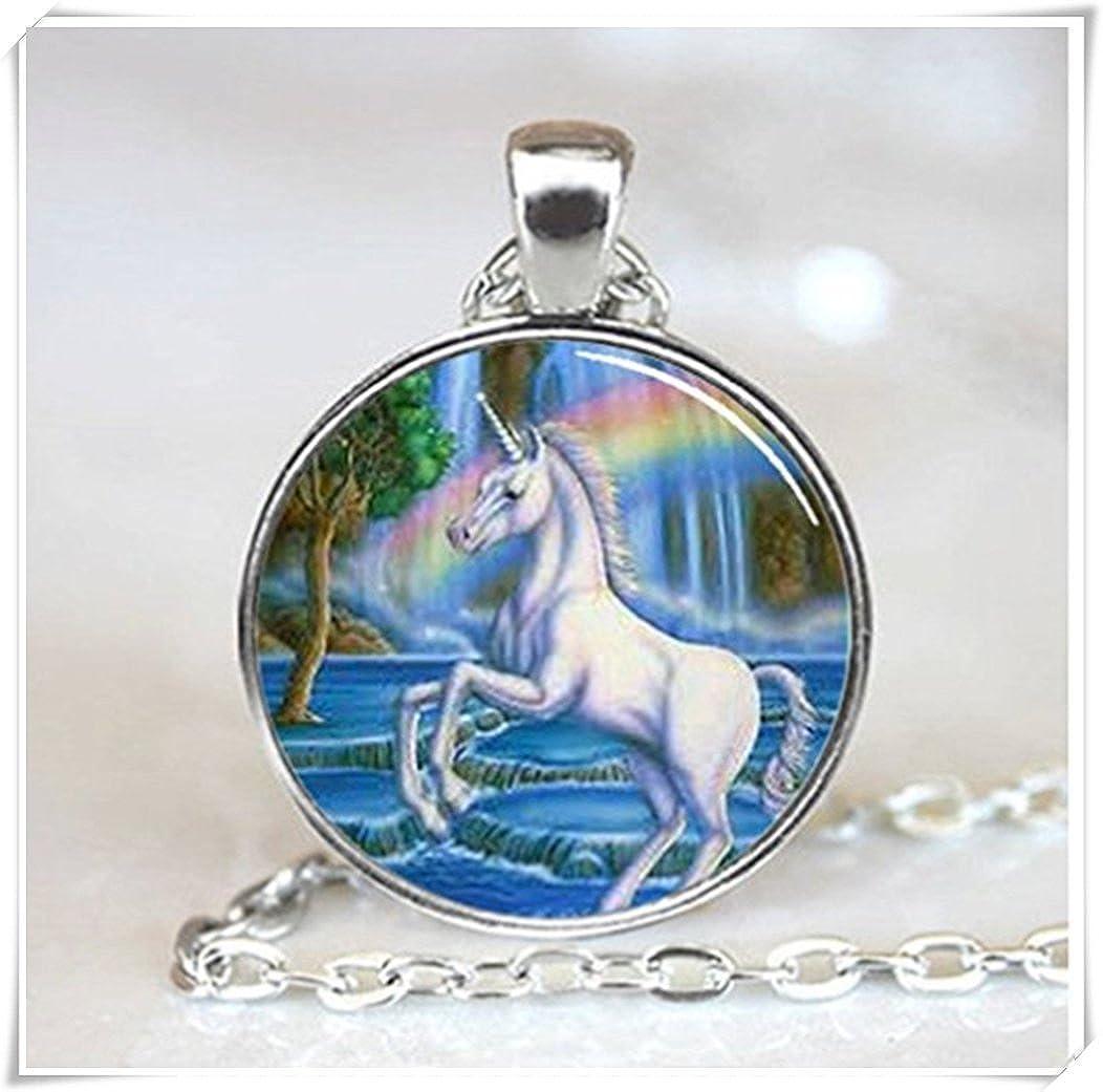 Unicorn With Rainbow Jewelry Necklace CT56