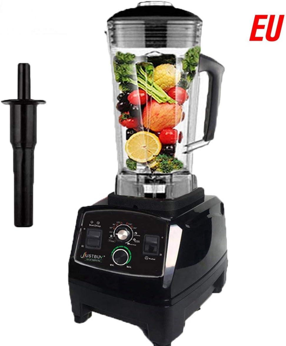2200W Inicio Batidos profesionales Licuadora eléctrica Mezclador de alimentos Exprimidor Procesador de frutas Procesador de batidos Máquina de cocinar (Negro) ESjasnyfall
