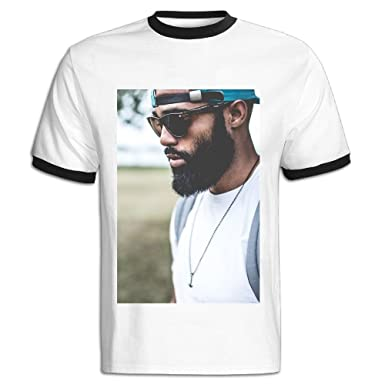 JACKJOM Guy Man Fashion Backpack Beard Necklace Afro Hat Sun Hit Color Tees  For Men 5cd97b9022b