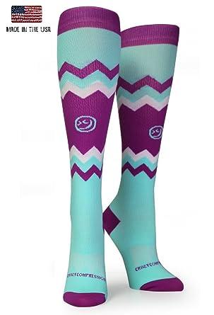 083808b650 Amazon.com: Crazy Compression OTC Chevron Compression Socks: Clothing
