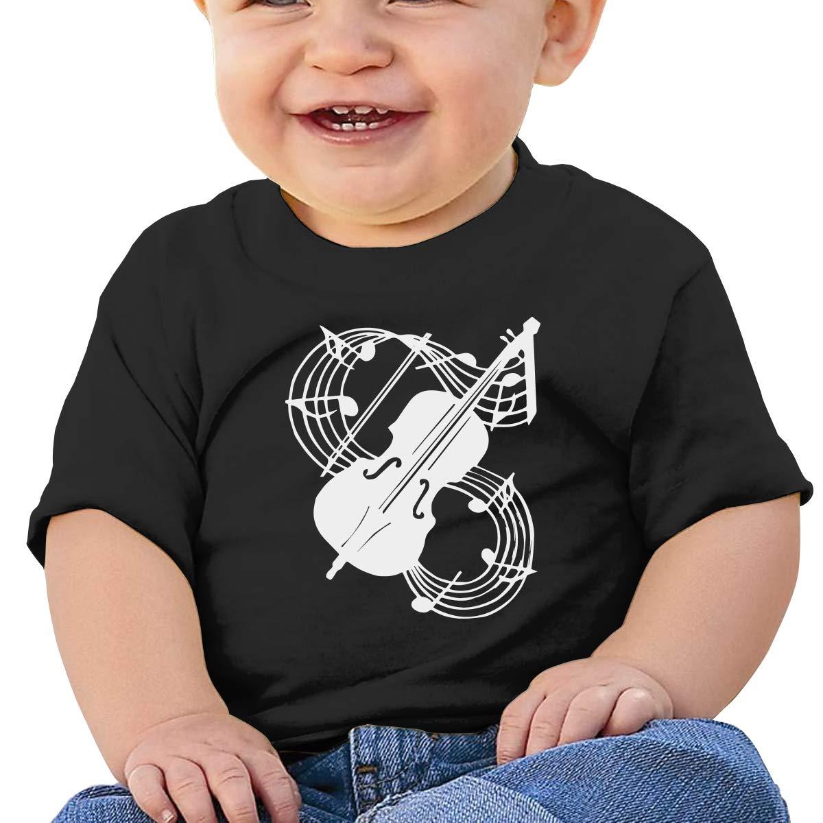Violin Toddler Short-Sleeve Tee for Boy Girl Infant Kids T-Shirt On Newborn 6-18 Months Musical Note