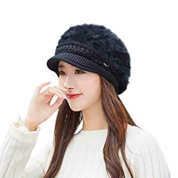 Image Unavailable. Image not available for. Color  EnjoCho Clearance  Sale!Women Winter Warm Cap Knitted Hat Beret Baggy Beanie Hat Slouch Ski a51f362563a0