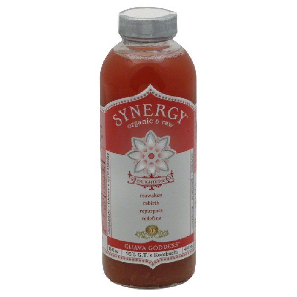 GTs Enlightened Synergy Organic and Raw Kombucha Guava Goddess, 16 Ounce -- 12 per case.