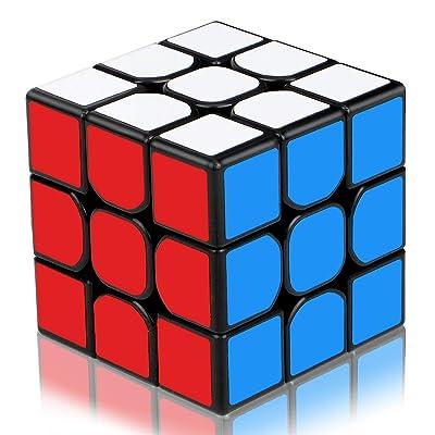 Aiduy Cubo de Rompecabezas 3D de 3 x 3 velocidades, Cubo mágico edición Mejorada Suave, Nuevo Cubo de Velocidad de Estructura antipop, Colorido: Juguetes y juegos