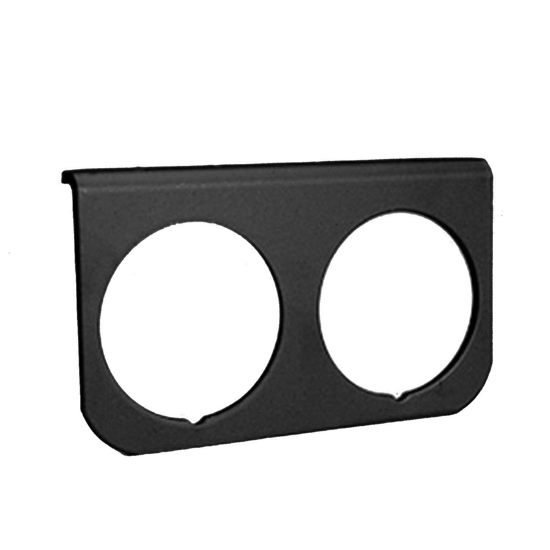 Auto Meter 2237 Black 2-1//16-Inch 2-Hole Aluminum Gauge Panel