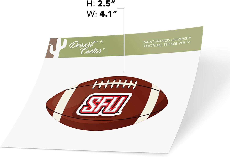 Saint Francis University SFU Red Flash NCAA Vinyl Decal Laptop Water Bottle Car Scrapbook Football Logo Sticker
