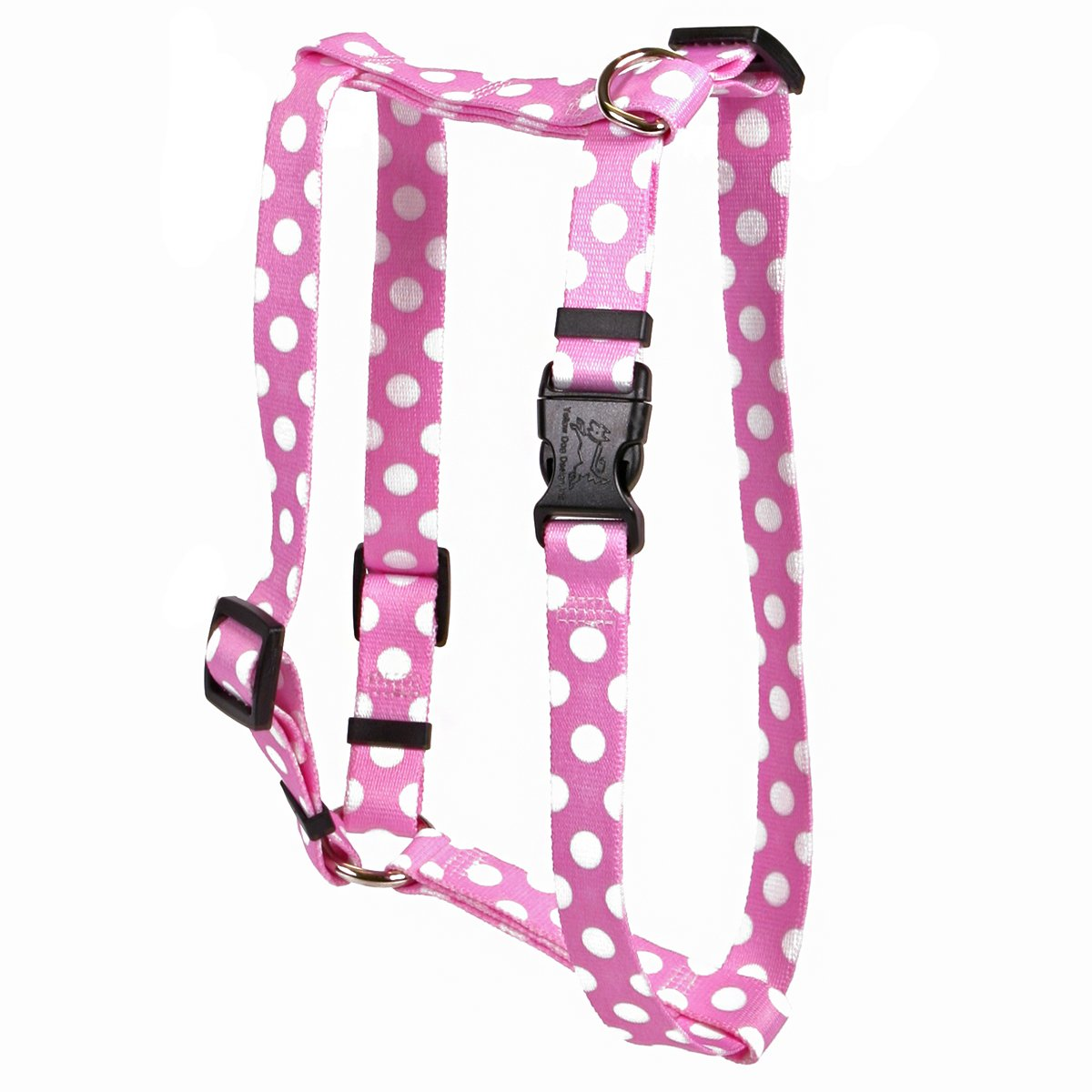 Yellow Dog Design Watermelon Polka Dot Roman Style H Dog Harness-Small/Medium-3/4 and fits Chest 14 to 20''