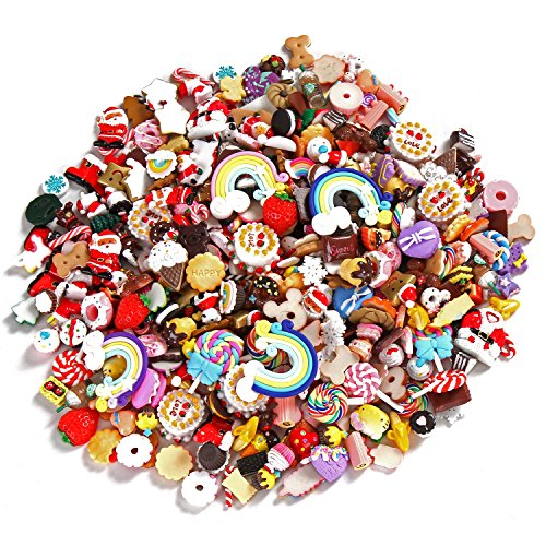Price comparison product image Sea Team Mixed Lot Food Resin Flatback Mini Kawaii Cabochons, 20 Pieces