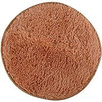 Awakingdemi Round Area Rug, 32 Inch Round Foam Rug Non Slip Shower Mat Bedroom Mat Door Floor Carpet Mat (Khaki)