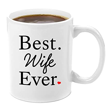 Amazon.com: Best Wife Ever | Premium 11oz Coffee Mug Set - Wife ...
