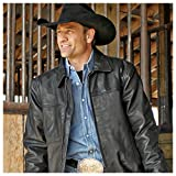 STS Ranchwear Men's The Rifleman Leather Jacket (Rustic Rawhide Brown, XXXX-Large)