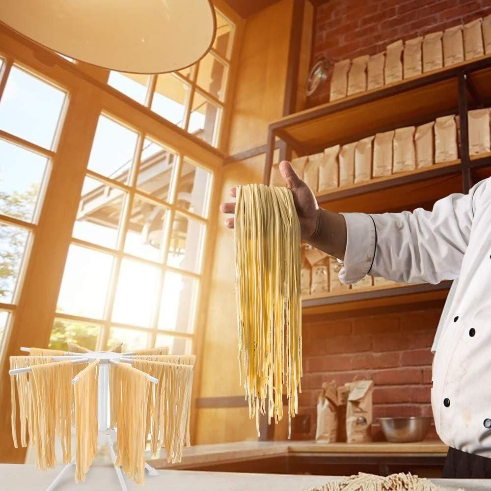 DIYARTS 10 Branches Nouilles Pliables S/échage Rack Stable Nouilles /À la Main Suspendus Stand Ustensiles de Cuisine Maison P/âtes Gadget