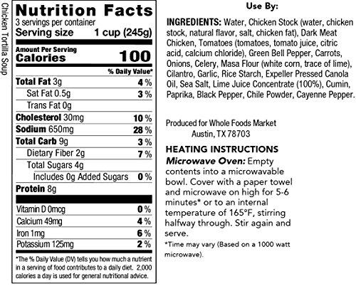 Whole Foods Market Chicken Tortilla Soup 24 Oz Amazon