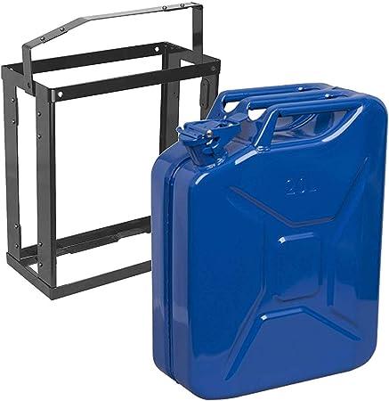 Lockable Metal Holder fuel Carrier petrol diesel 20L 20lt Metal BLUE Jerry Can