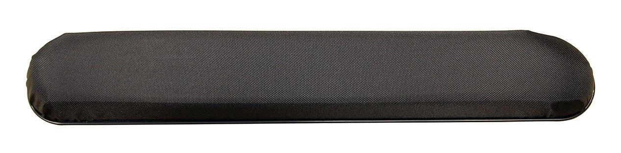 One Pair - Black Nylon Full Length Padded Armrests Pair, Universal Fit