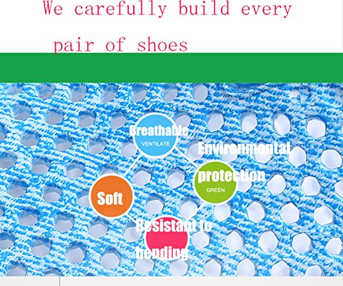BADIER Women Mesh Summer Breathable Slippers Beach Garden Clog Sandals Shower Footwear Water Shoes Walking Anti-Slip Shoes Sky Blue