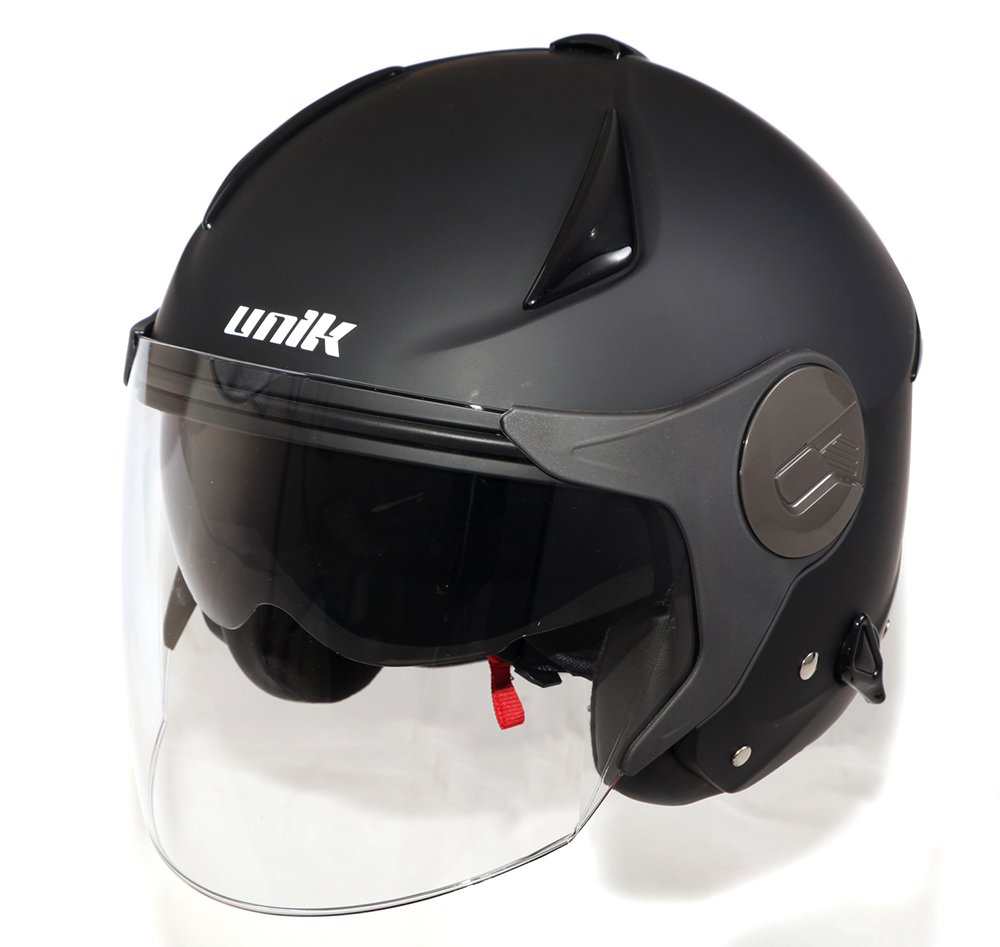 Amazon.es: UNIK - UH001 Casco Jet Negro Mate con Pantalla ...