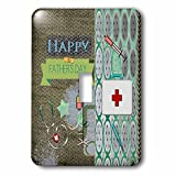Beverly Turner Fathers Day Design - Medical Theme Fathers Day, Abstract, Stethoscope, Thermometer - Light Switch Covers - single toggle switch (lsp_239539_1)