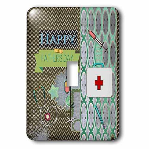 Beverly Turner Fathers Day Design - Medical Theme Fathers Day, Abstract, Stethoscope, Thermometer - Light Switch Covers - single toggle switch (lsp_239539_1) by 3dRose