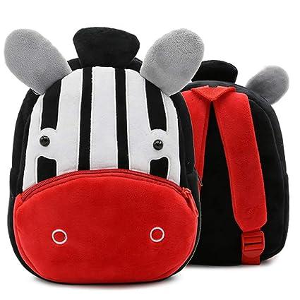 5a150f370ed0 Zebra Backpack for Toddler Boys, Toddler Bookbag Girl Dinosaur Toys  Bags(Zebra)