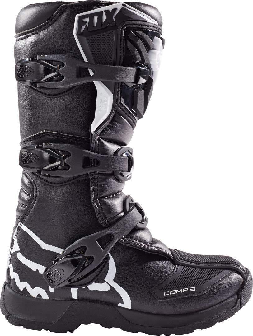 Fox Shoes Junior Comp 3Y Black Y8 (252Mm): : Auto