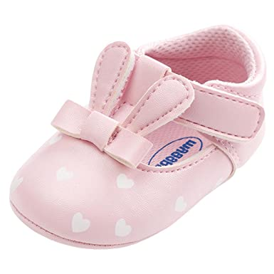 f4a44bbe0fe38 Amazon.com: Highpot Baby Girl's Princess Rabbit Ears Shoes Infant First  Walkers Sneakers: Clothing