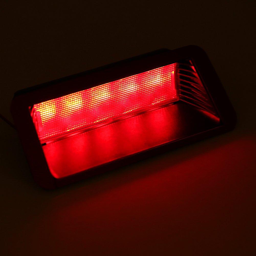 nivel de montaje alto Tercera 3/ª parada de freno Luz de cola trasera Luz de freno tercera del coche de 5 LED universales