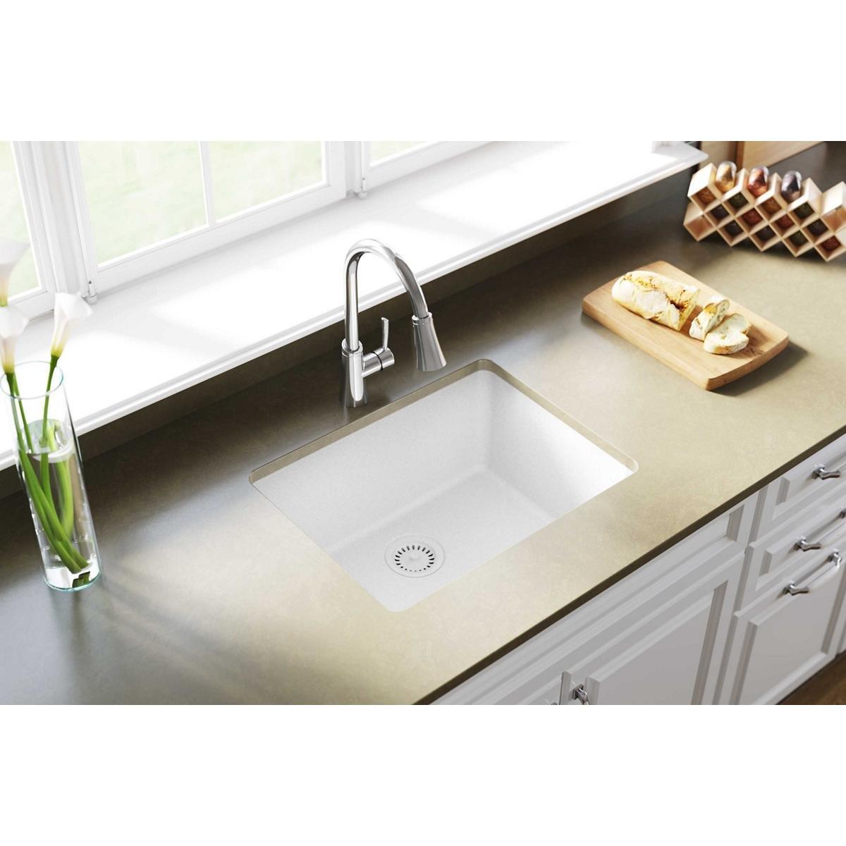Elkay Quartz Classic ELGU2522WH0 Single Bowl Undermount Sink, White by Elkay (Image #2)