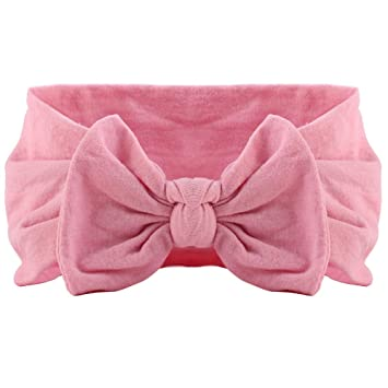 1PC Baby Girls Headband Big Bow Hair Band Headwear Soft Nylon Hairband Turban