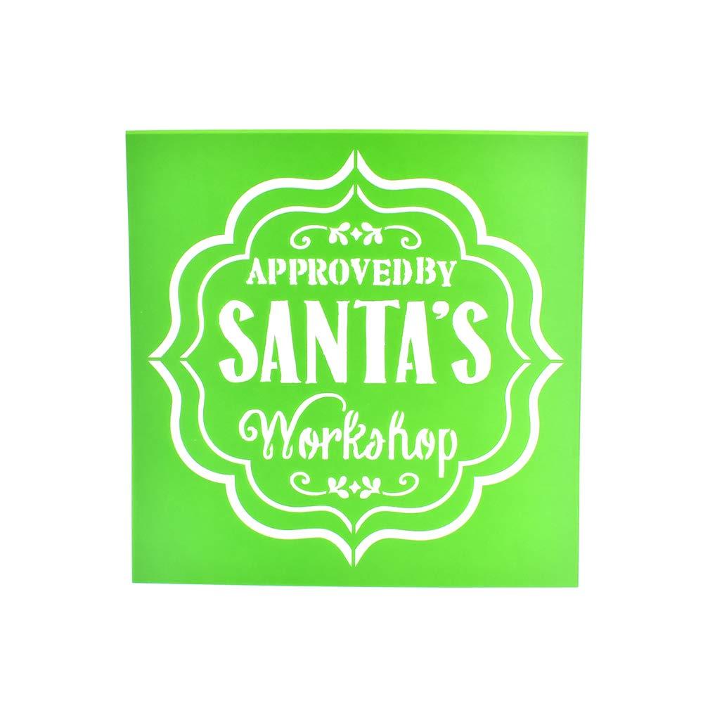 Homeford Santa's Workshop クリスマスマルチメディアステンシル 6インチ   B07L6187R6