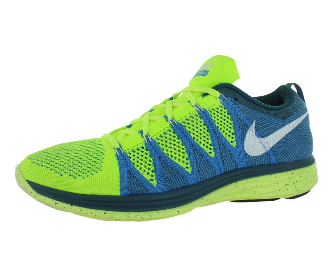 NIKE 620465 601 - Zapatillas de correr de material sintético hombre 44 EU|Volt / White-blue Glow-night Fctr