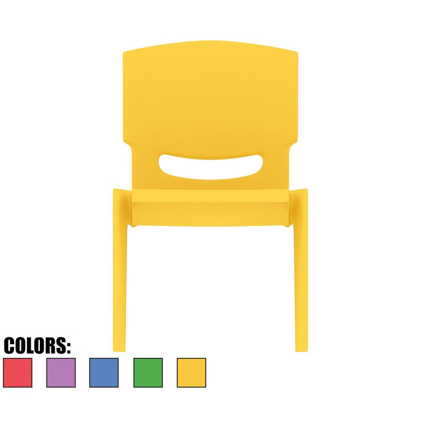 2xhome - Yellow - Kids Size Plastic Side Chair 10'' Seat Height Yellow Childs Chair Childrens Room School Chairs No Arm Arms Armless Molded Plastic Seat Stackable