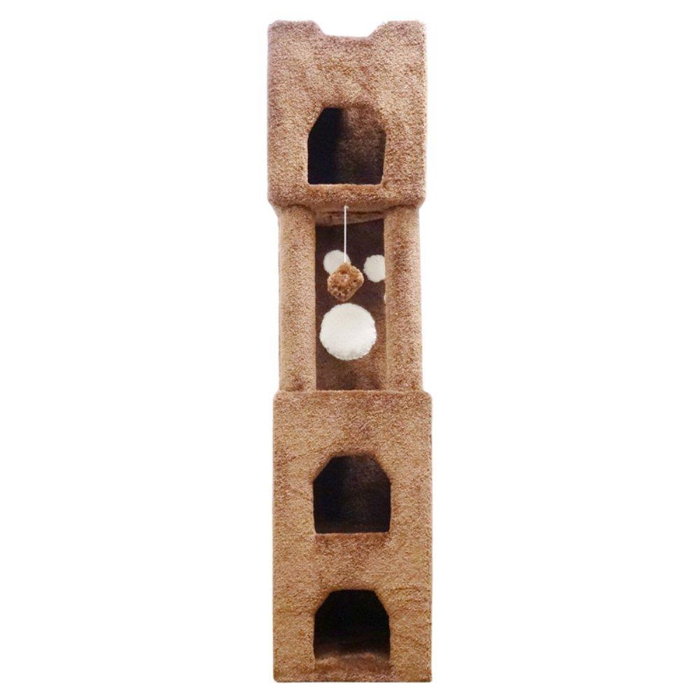 amazoncom  new cat condos premier ' cat tower beige  cat  - amazoncom  new cat condos premier ' cat tower beige  cat houses andcondos  pet supplies