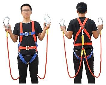 JHKJ Cinturón De Seguridad para Exteriores, Cuerda Doble, Cinturón ...