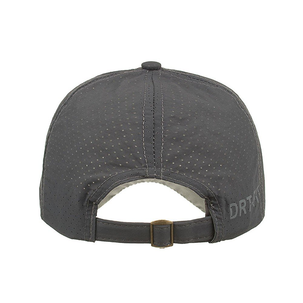 Cealu Unisex Fashion Golf Cap Adjustable Summer Solid Hat Ventilation Baseball Hats Breathable Lightweight Mesh Cap (Grey) by Cealu (Image #2)