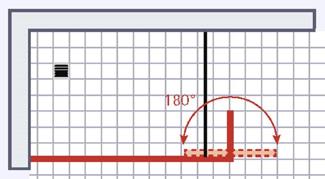 90x30x190 cm retour profil/é aspect chrom/é verre d/écor Mistral Schulte Paroi de douche /à l/'italienne Walk In sans silicone