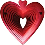 Iron Stop 15cm Small Heart Classic Wind Spinner - Red