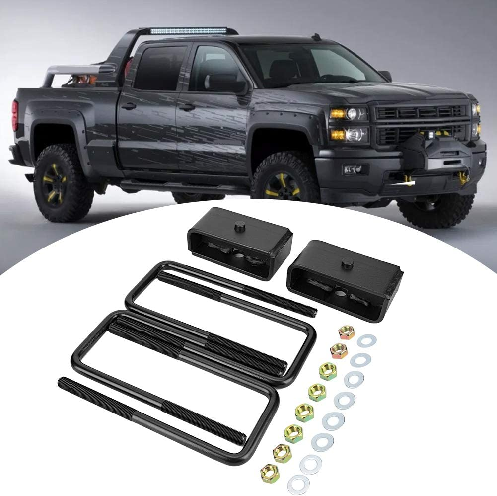 Black 2inch Rear Leveling Lift Compatible With Silverado Sierra 1500 4WD 2WD 2007-2018