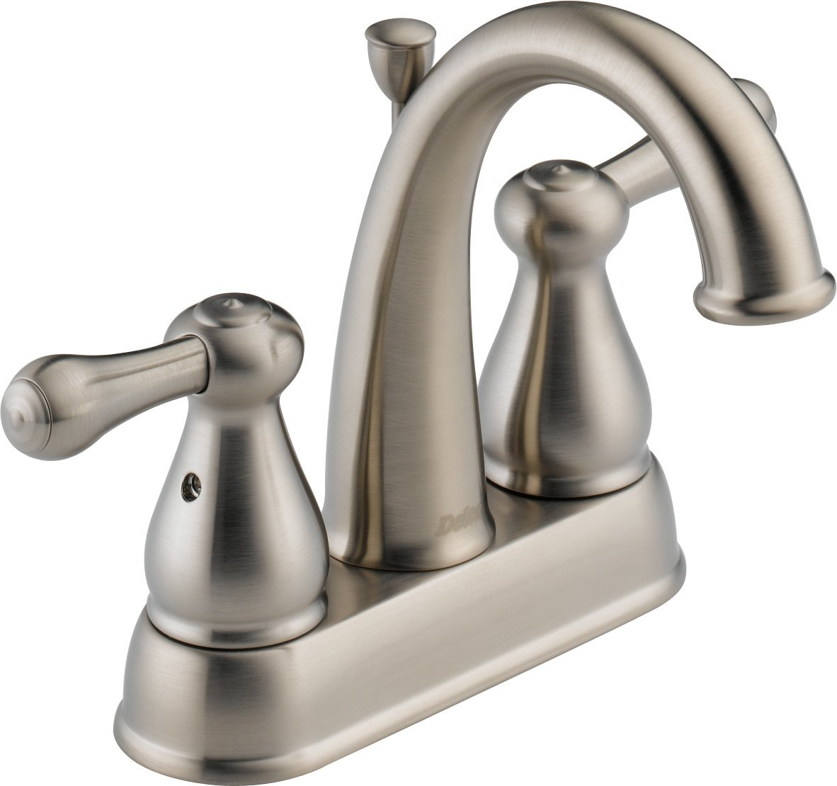 Delta 2575LF SS Leland Two Handle Centerset Bathroom Faucet, Stainless    Touch On Bathroom Sink Faucets   Amazon.com