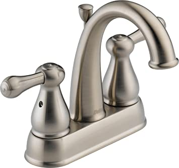 Delta 2575LF SS Leland Two Handle Centerset Bathroom Faucet, Stainless